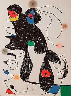 Shop original Joan Miró art and other Joan Miró art from the world's best art galleries. Joan Miro, Graphic Prints, Graphic Art, Art Prints, Pablo Picasso Cubism, Wassily Kandinsky, Fantastic Art, Gravure, Magazine Art