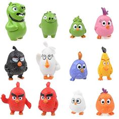 12 pcs Angry Birds Figures cm Toys Doll Gift Cartoon Movie Figures From USA Organic Bath Bombs, Natural Bath Bombs, Angry Birds Characters, Red Angry Bird, Red Chucks, Bath Bomb Sets, Bird Toys, Cartoon Movies, Child Love