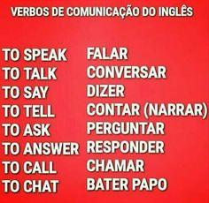 Estes são alguns verbos de comunicação do inglês, para mais dicas de inglês visite nosso site!