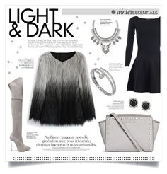 """""""▹ Light and Dark ✩"""" by f-ashioninside ❤ liked on Polyvore featuring Chicwish, Ralph Lauren, Casadei, Michael Kors, Cartier, Leith, Mark Broumand and Avenue"""