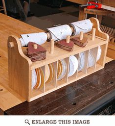Bench top Sanding-Disc Caddy Woodworking Plan  - !!  anpassen an mein french cleat system !! #easywoodprojects