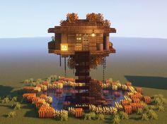 Minecraft Cottage, Cute Minecraft Houses, Minecraft House Designs, Minecraft Blueprints, Minecraft Creations, Minecraft Projects, Minecraft Buildings, Minecraft Ideas, Terraria House Ideas