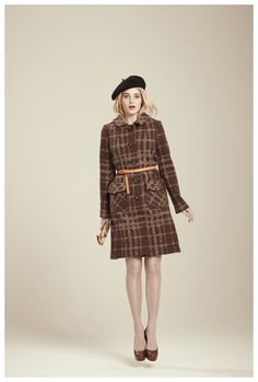 Francis Fall 2012 - Erika plaid jacquard knit coat
