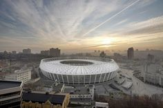 You can see a theme occuring for stadium design - Warsaw, Berlin and Ukraine.