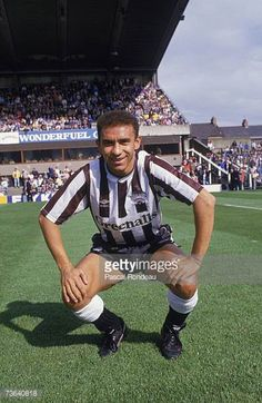 Brazilian footballer Francisco Ernami Lima de Silva better known as Mirandinha about to play for Newcastle United against Wimbledon at St James' Park...