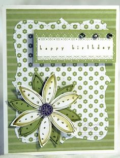 like cuts and layers. also good thinking of you card.  another by Pam, obviously one of my favorite card makers!