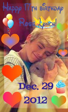 Made all by myself:) Happy 17th Birthday Ross Shor Lynch! I love you so much. And I will continue to love you until the end of time! Please come back to Madison so I can hug you again. You have brought a bright light into my life. I love you Ross Shor Lynch. So proud to be part of the #R5Family. December 29th.