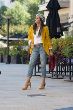 0d8ddafe346 9 Best Yellow jacket outfit images in 2019