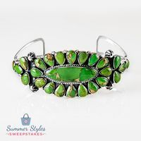 This beautiful green turquoise bracelet will have you feeling relaxed and…
