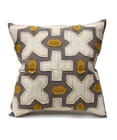 Bliss Studio Agadir Pillow - Slate/Vanilla/Curry