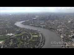 Flight Down the Thames - Aerial HD Footage - May 2012 London Bridge, London City, Aerial Footage, London Skyline, London Eye, Country Roads, River, Outdoor, Outdoors