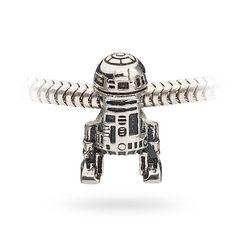 Silver-tone R2-D2 charm bead.