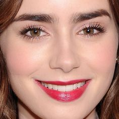 The lips! The hair! The brows! Drool over this Lily Collins look and then copy it for your next holiday party