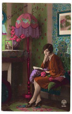 Hand tinted postcard 1931