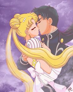 Serena & Darien <3  Sailor moon & Tuxedo Mask <3 Queen of the Moon & Prince Darien <3