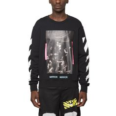 Diagonals Caravaggio sweatshirt from the S/S2017 Off-White c/o Virgil Abloh collection in black
