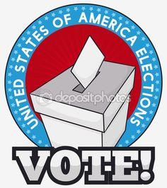 White Ballot Box Ready for Next American Elections