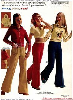 70s Inspired Fashion, 60s And 70s Fashion, 70s Women Fashion, Fashion History, Retro Fashion, Vintage Fashion, 70s Outfits, Vintage Outfits, Cute Outfits