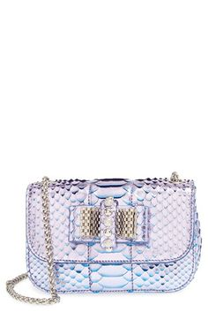 Christian+Louboutin+'Sweet+Charity'+Genuine+Python+Shoulder+Bag+available+at+#Nordstrom