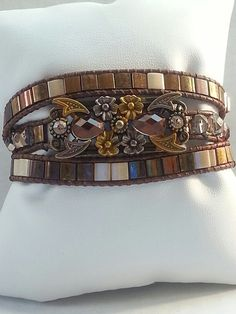 Triple Wrap Tila Bead Bracelet by Wraptime on Etsy,