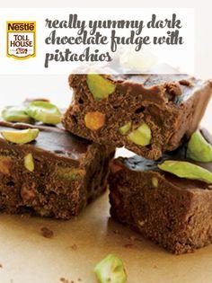 Really Yummy Dark Chocolate Fudge with Pistachios