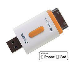 i-USBKey 32GB : USB-Stick für iPhone und iPad, Apple MFI Zertifikat . Ermöglicht einfachen Transfer von Fotos, Videos, Musik und allen weiteren Dateiarten von ihrem iPhone / iPad auf einen Mac oder PC (und umgekehrt), von iPad zu iPhone (und umgekehrt), ohne Synchronisierung von iTunes.