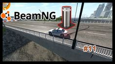 BeamNG Drive Chained Cars against Bollard 11