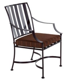 O.W. Lee Laredo Wrought Iron Patio Dining Chair - Patio Chairs at Hayneedle