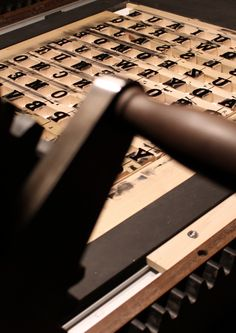 Large format letterpress printing, in process, 2015.