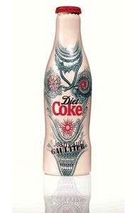 Diet Coke Jean Paul Gaultier new Aluminium bottle unopened