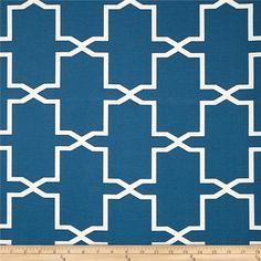 Swavelle/Mill Creek Indoor/Outdoor Emsworth Neptune Blue from @fabric.com-$8.48 per yard  This polyester fabric holds up to 500 hours. Colors include blue, ivory and black.