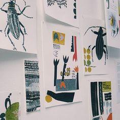 Cut paper/collage #collage #textiles #illustration #naive #design #textiles #comingtond #ND16