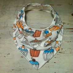 BundleB's $8.00 Baby Bib. Bandana Bib. Teething Bib. Drooling Bib. Cupcakes. Flannel. KAM Snaps. *If item is sold out, request a custom order and I might still have the fabric in stock!
