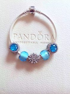 50% OFF!!! $159 Pandora Charm Bracelet Blue. Hot Sale!!! SKU: CB02105 - PANDORA Bracelet Ideas