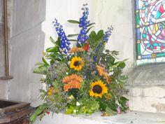 Sempringham Abbey Pulpit flowers