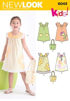 A 3-4-5-6-7-8 Simplicity Creative Patterns New Look 6279 Childs Dresses or Tops and Knit Cropped Leggings