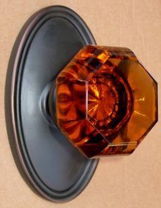 Old Town Amber Glass Door Knobs | For the Home | Pinterest | Glass ...