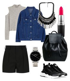 """""""casual"""" by ilsecamps ❤ liked on Polyvore featuring Yves Saint Laurent, Nixon, MAC Cosmetics, NIKE, women's clothing, women, female, woman, misses and juniors"""