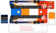 Stagecoach Express Bluebird paper bus model - Stagecoach Fan club. DIY paper craft