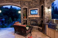 Entertainment and yummy treats - outdoor living space and outdoor kitchen.