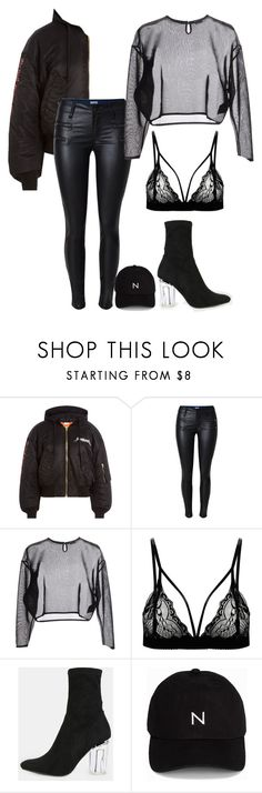 """Untitled #550"" by kwasheretro on Polyvore featuring Vetements, Yves Saint Laurent and New Black"