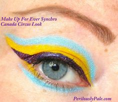 Interesting idea...  Make Up For Ever Synchro Canada Circus Look in Action |Perilously Pale