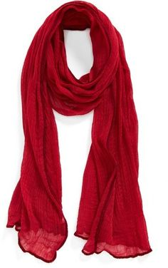 $11, Roffe Accessories Crinkle Scarf. Sold by Nordstrom. Click for more info: https://lookastic.com/women/shop_items/189403/redirect