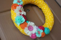 House of Ashby- Summer wreath for front door! Super easy and cheap to make!