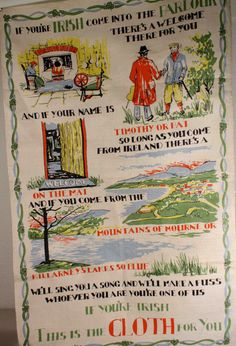 Linen tea towel... Will have to get one in memory of Grandma Jackson.  Must keep the collection going!