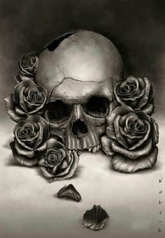 skulls and roses... this is beautiful... reminds me how temporary our lives here on Earth are... learn to let go because what really matters is our souls and not holding onto material things - when our time comes to go home, all we take with us is what we have learned...