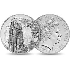In a first of its kind the Royal Mint unveils a 100 GBP silver coin : Luxurylaunches Bullion Coins, Silver Bullion, Mint Coins, Silver Coins, Rare Coins, Us Coins, Silver Investing, Coin Collecting, Archaeology