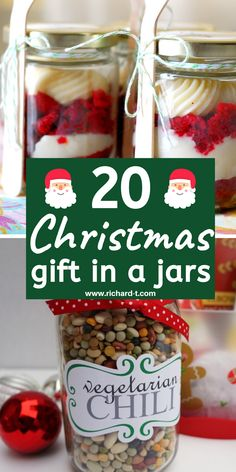 15 Christmas gifts in a jar that are personal and amazing! These Christmas gift in a jar ideas are PERFECT for friends and family! #christmasgifts #christmasgiftsinajar #giftsinajar #DIYgifts