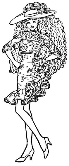Barbie Coloring Pages, Colouring Pages, Coloring Books, Fashion Books, Art Therapy, Drawing People, Colorful Pictures, Book 1, Color Splash
