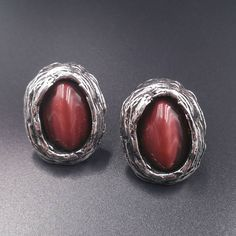 Check out this item in my Etsy shop https://www.etsy.com/listing/533649219/brown-cufflinks-rugged-silver-tone-oval